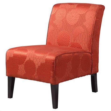 orange living room chair modern house