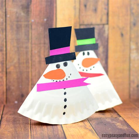 snowman paper crafts for rocking paper plate snowman easy peasy and