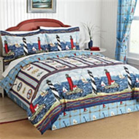 lighthouse comforter sets nautical bar harbor lighthouse curtain collection from
