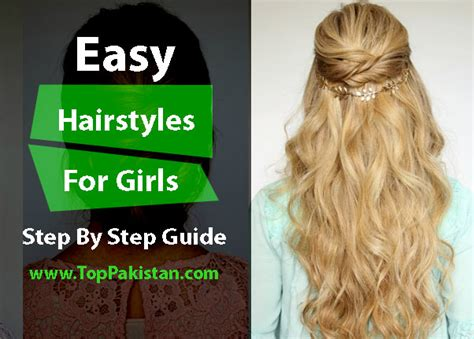 step by step guide to a beauitful hairstyle easy hairstyles to do at home step by step guide top