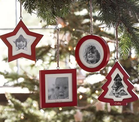 photo frame ornaments for tree frame ornaments pottery barn