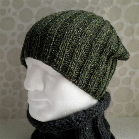 free knitting pattern mens beanie nathan knitting pattern for seattle slouchy ribbed hat for