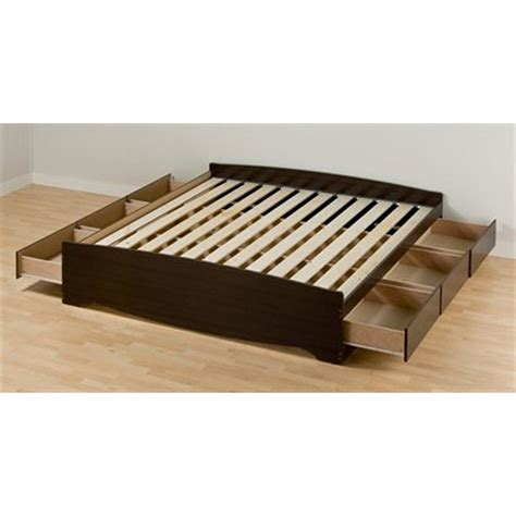 shop prepac furniture mate s espresso platform bed with