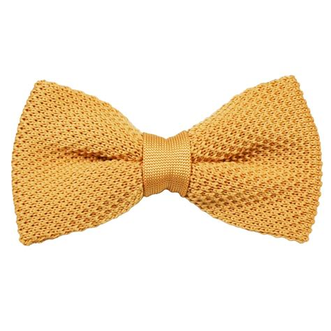 knitted bow tie plain gold knitted bow tie from ties planet uk