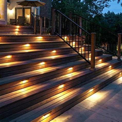 stair lights outdoor 18 best exterior stair lighting images on