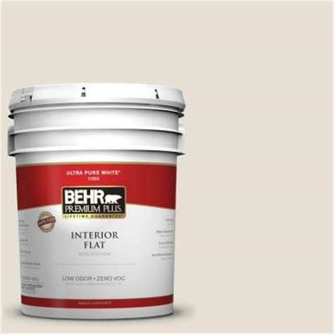 home depot 5 gallon interior paint behr premium plus 5 gal 1873 white flat interior paint 105005 the home depot