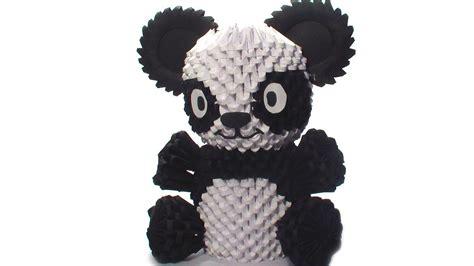 how to make 3d origami panda 3d origami panda tutorial