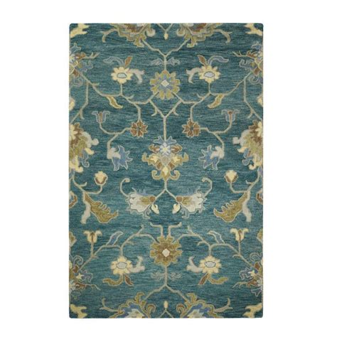 home decorators area rugs home decorators collection montpellier teal 9 ft 9 in x