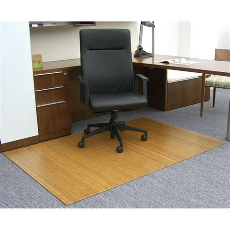 Bamboo Desk Chair Mat by 48 X 72 Bamboo Roll Up Chair Mat In Chair Mats