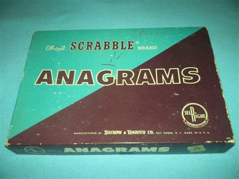 anagram and scrabble vintage 1962 scrabble anagrams selchow righter co