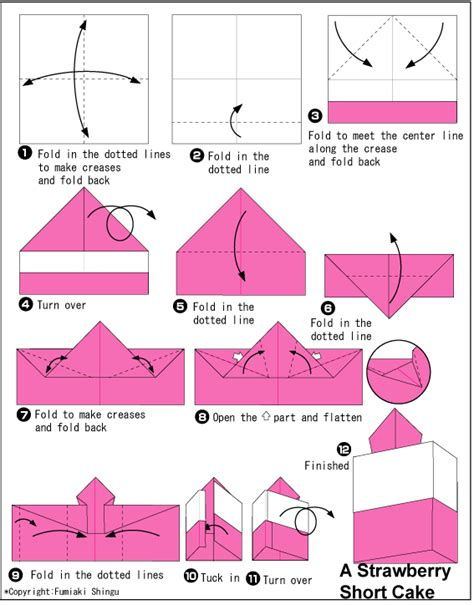 how to make a origami cake strawberry cake easy origami for