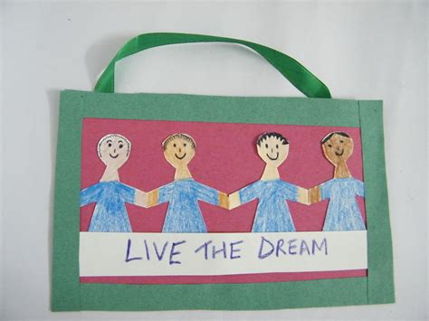 mlk crafts for martin luther king day poster arts crafts activity for