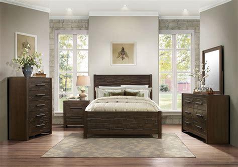 homelegance bedroom furniture homelegance bowers bedroom set rustic java brown 1952