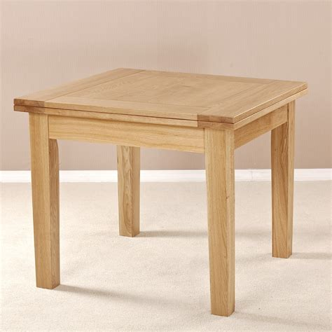square expanding table solid oak square flip top extending dining table
