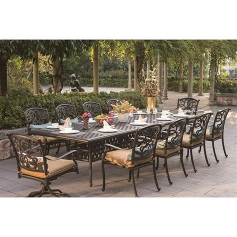 11 patio dining set darlee santa 11 patio dining set in antique