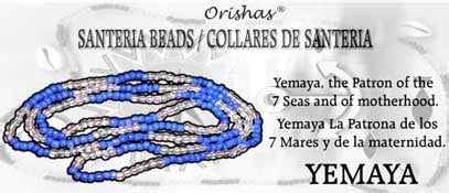 santeria color meanings santeria bead necklace yemaya blue and clear