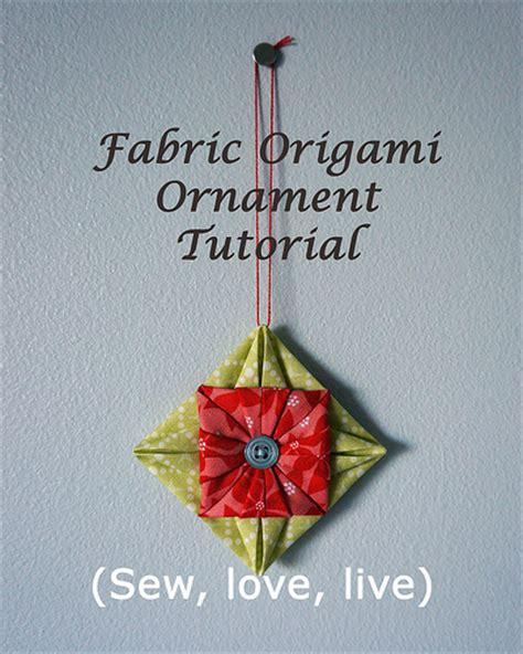 fabric origami ornaments fabric origami ornament tutorial flickr photo