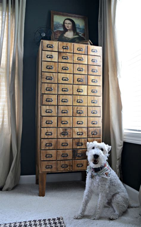 how to make a card catalog diy card catalog cabinet reveal decor and the