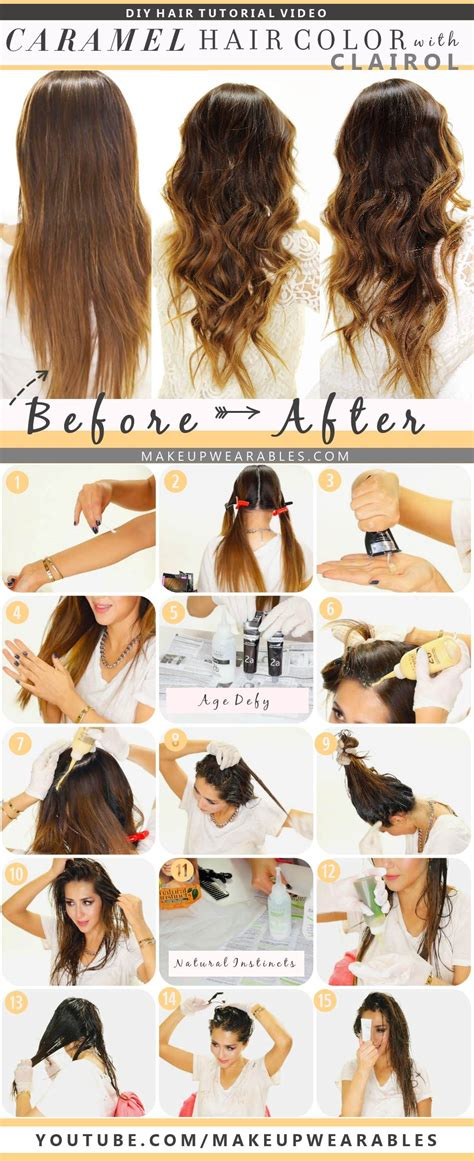 how to color hair how to color hair at home caramel brown ombre