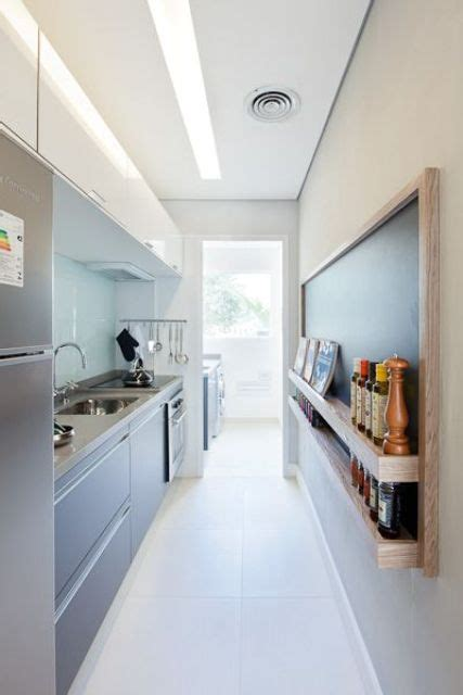 narrow kitchen designs 31 stylish and functional narrow kitchen design