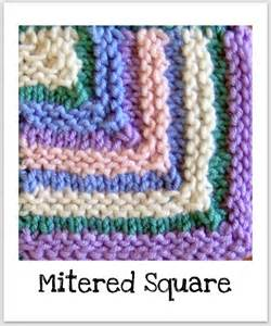how to knit a mitered corner squares knitting basket