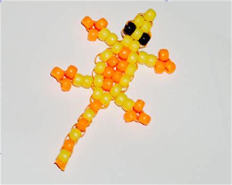 gecko pony bead pattern lizard lanyard craft