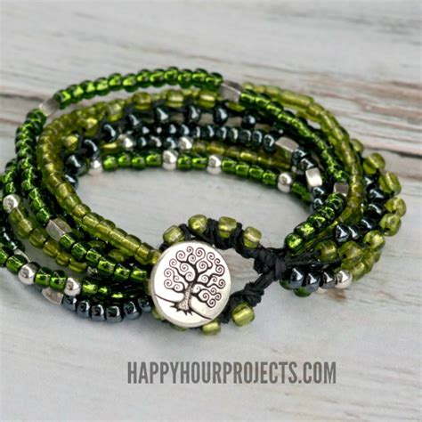 how to add a clasp to a beaded bracelet braided bead and hemp bracelets happy hour projects