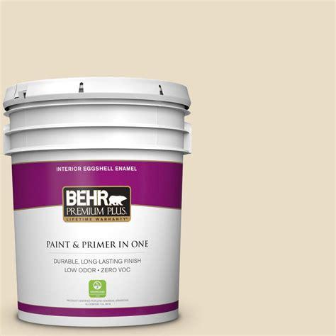 home depot paint navajo white behr premium plus 5 gal 22 navajo white eggshell enamel