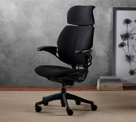 Desk Chair With Headrest by Humanscale 174 Freedom Task Chair With Headrest Pottery Barn