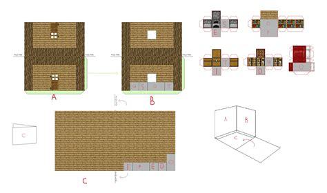 pixel paper craft papercraft mini steve s house