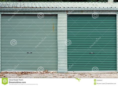 green garage doors green garage doors royalty free stock photography image