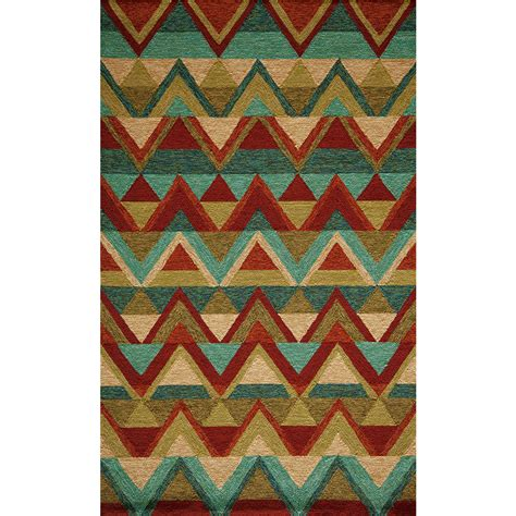 8ft rugs shop veranda multi color pyramid outdoor rug 8ft x 10ft