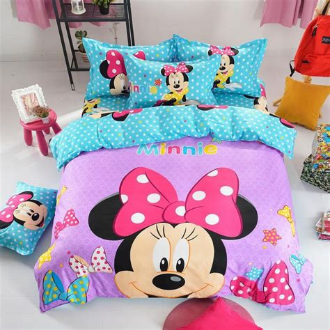 minnie mouse bedding sets minnie mouse pattern bedding set