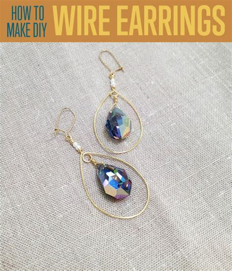 how to make jewelry with wire wrapping techniques how to make teardrop earrings wire wrapping techniques