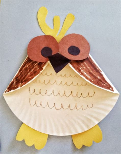 owl paper plate craft activities for paper plate owl craft