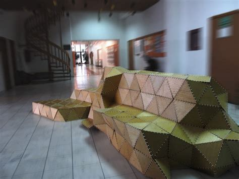 origami forum sculptural seating unit inspired by the of origami