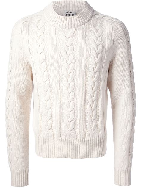 White Cable Knit Sweater Www Imgkid The Image