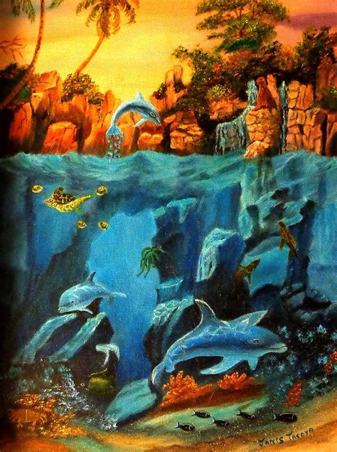 acrylic painting underwater underwater painting by janis tafoya