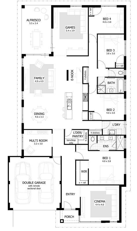 house plans with large bedrooms 4 bedroom house plans home designs celebration homes