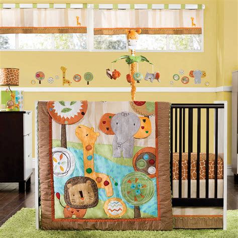 jungle crib bedding kidsline safari 4 crib bedding set