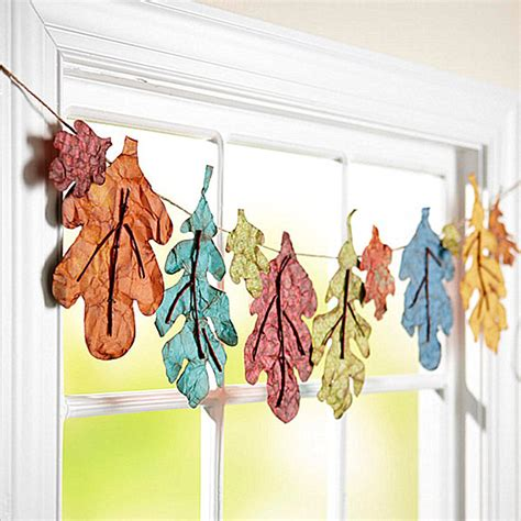 leaf crafts projects a fall leaf garland craft project decoist