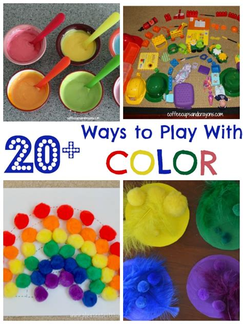 color crafts for 20 color activities for coffee cups and crayons