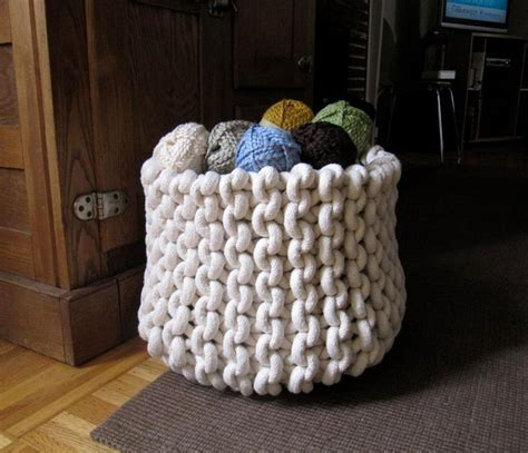 knit rope basket knitting supplies ropes and rope basket on