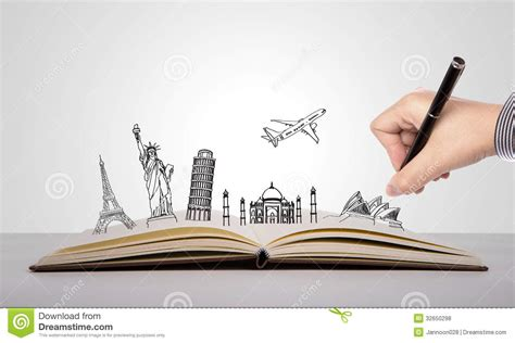 write a picture book write on book of travel royalty free stock photos