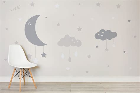 baby wall mural baby clouds and moon wall mural murals wallpaper