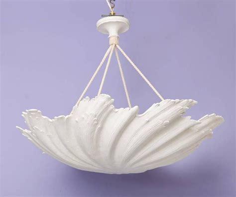 wp sullivan plaster shell chandelier for sale at 1stdibs