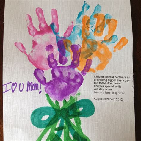 craft ideas for for mothers day mothers day craft handprint fingerprint