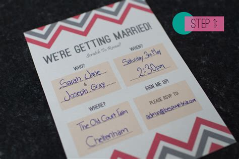 how to make marriage invitation card diy scratch card wedding invitations bespoke