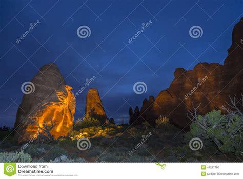 paint nite ut skyline arch at moab utah stock photo image 41297790