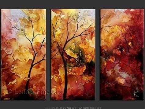 show about painting paintings of trees the quot autumn leaves quot series by lena